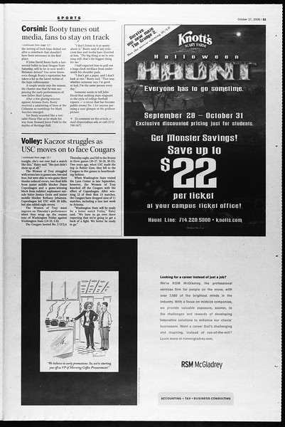 Daily Trojan, Vol. 159, No. 48, October 27, 2006