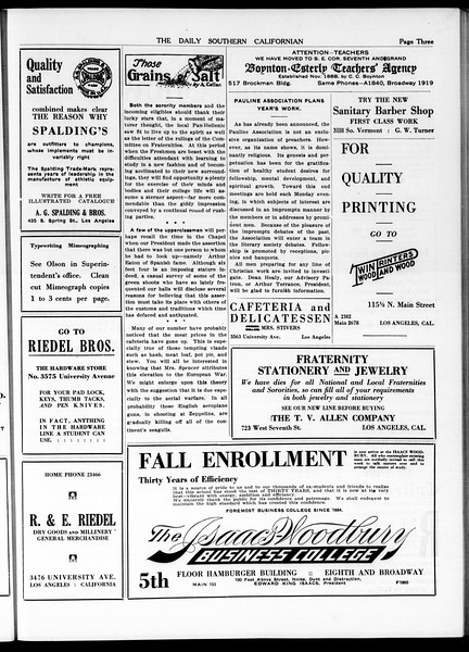 The Daily Southern Californian, Vol. 5, No. 7, September 25, 1914