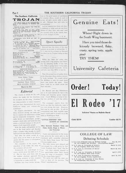 The Southern California Trojan, Vol. 7, No. 84, March 10, 1916