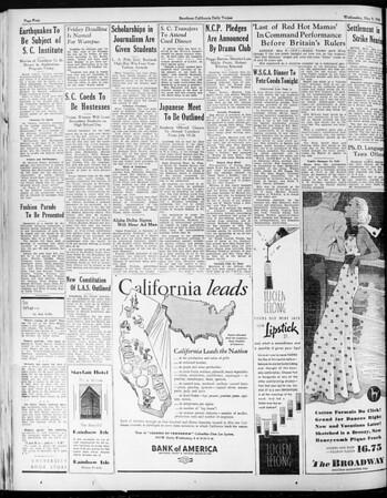 Daily Trojan, Vol. 25, No. 130, May 09, 1934