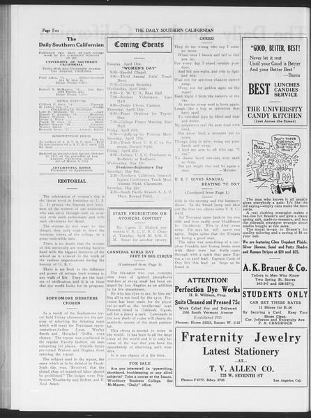 The Daily Southern Californian, Vol. 6, No. 17, April 13, 1915