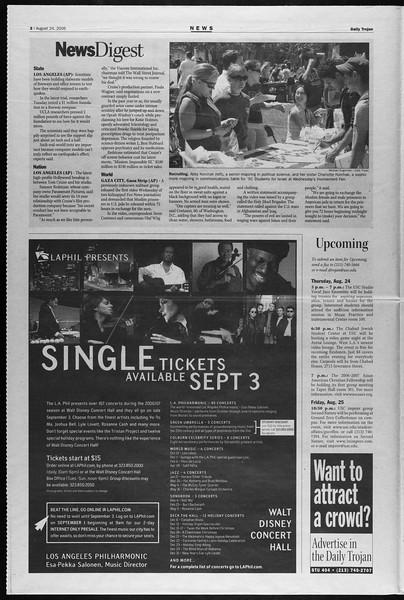 Daily Trojan, Vol. 159, No. 4, August 24, 2006