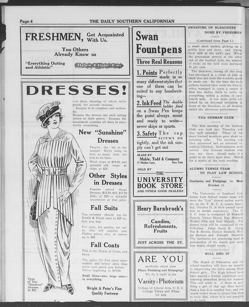 The Daily Southern Californian, Vol. 3, No. 11, September 29, 1913