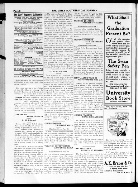 The Daily Southern Californian, Vol. 4, No. 27, March 26, 1914
