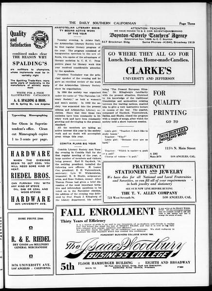 The Daily Southern Californian, Vol. 5, No. 10, October 01, 1914