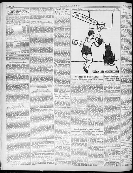Daily Trojan, Vol. 25, No. 93, March 09, 1934