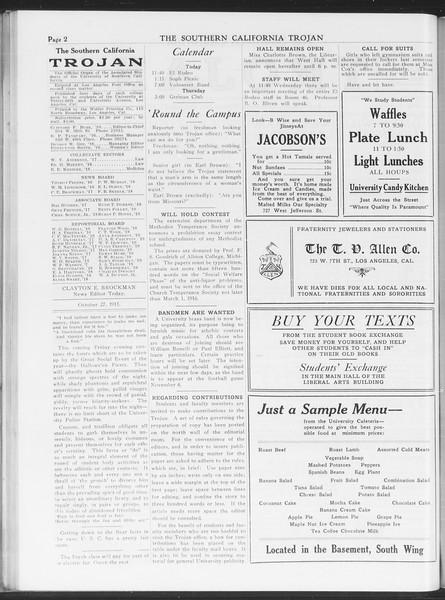 The Southern California Trojan, Vol. 7, No. 24, October 27, 1915