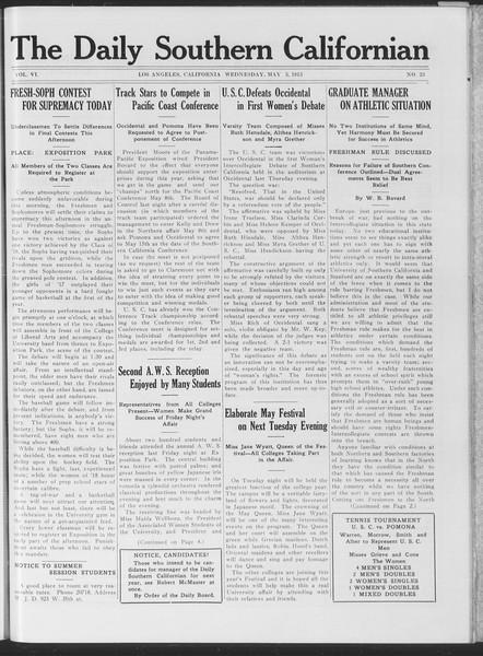 The Daily Southern Californian, Vol. 6, No. 23, May 05, 1915
