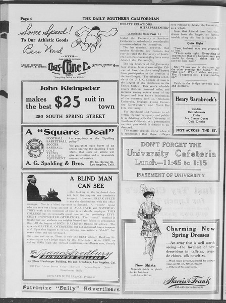 The Daily Southern Californian, Vol. 4, No. 13, March 03, 1914