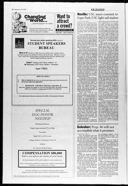 Daily Trojan, Vol. 159, No. 24, September 25, 2006