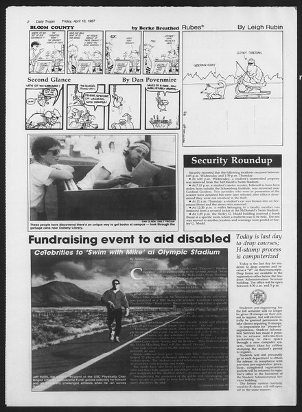Daily Trojan, Vol. 103, No. 56, April 10, 1987