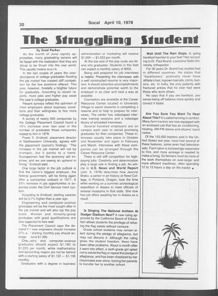 SoCal, Vol. 73, No. 36, April 10, 1978