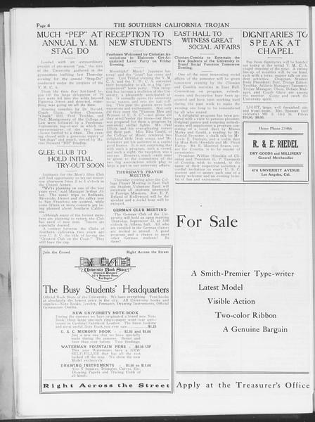 The Southern California Trojan, Vol. 7, No. 3, September 21, 1915