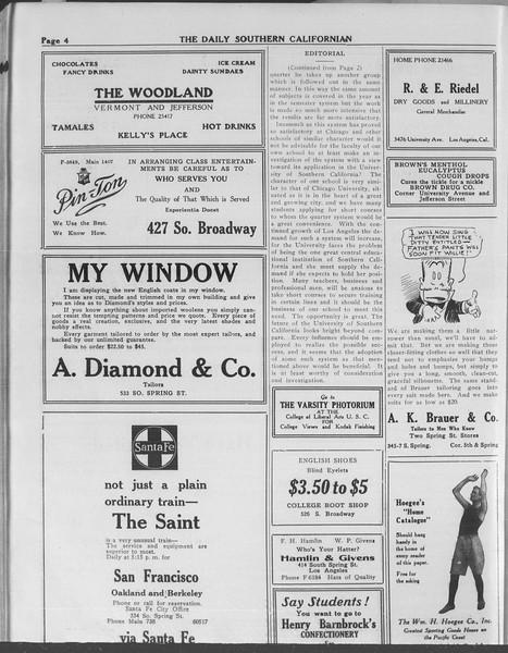 The Daily Southern Californian, Vol. 10, No. 52, May 23, 1913