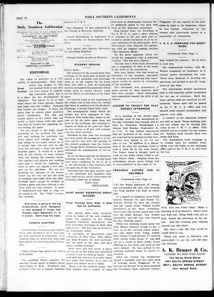 The Daily Southern Californian, Vol. 5, No. 3, September 18, 1914