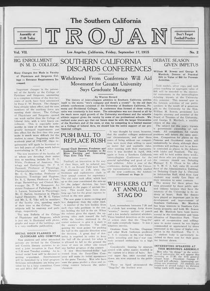 The Southern California Trojan, Vol. 7, No. 2, September 17, 1915