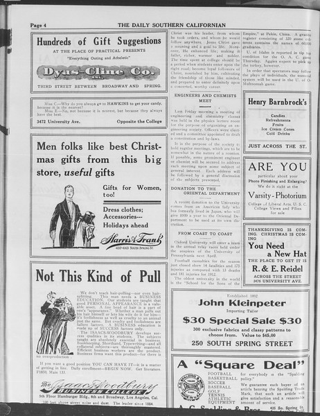 The Daily Southern Californian, Vol. 3, No. 50, December 10, 1913