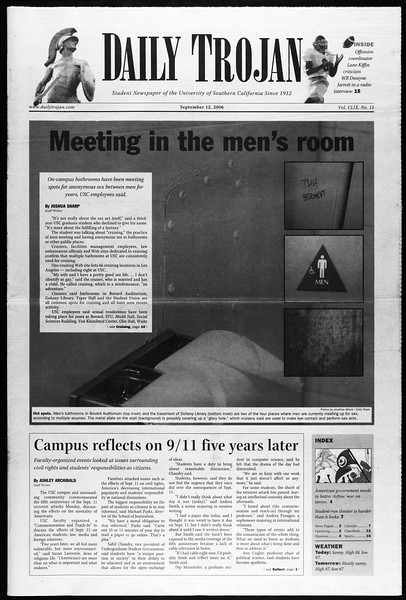 Daily Trojan, Vol. 159, No. 15, September 12, 2006