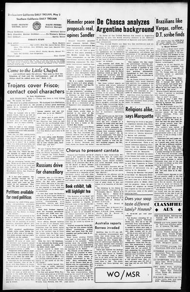 Daily Trojan, Vol. 36, No. 113, May 02, 1945