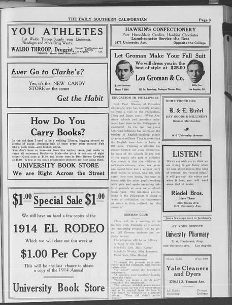 The Daily Southern Californian, Vol. 3, No. 17, October 09, 1913