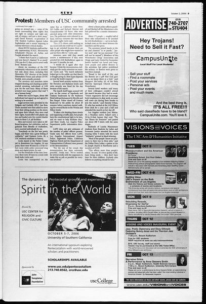Daily Trojan, Vol. 159, No. 29, October 02, 2006
