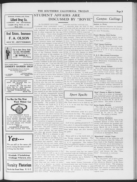 The Southern California Trojan, Vol. 7, No. 79, March 02, 1916