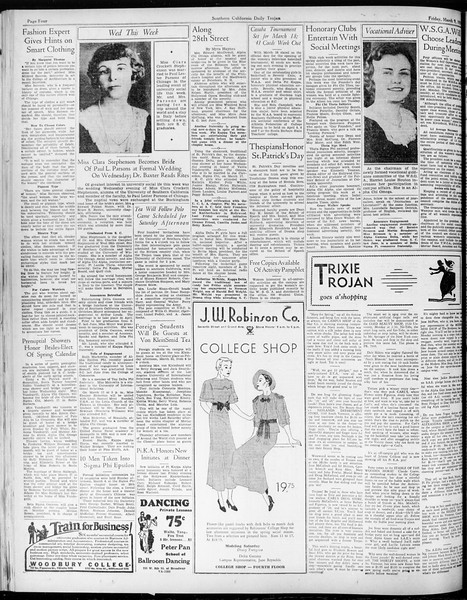Daily Trojan, Vol. 25, No. 93, March 09, 1934