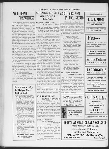 The Southern California Trojan, Vol. 7, No. 55, January 07, 1916