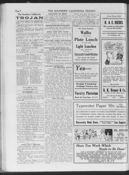 The Southern California Trojan, Vol. 7, No. 30, November 05, 1915