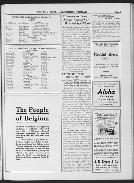 The Southern California Trojan, Vol. 7, No. 60, January 18, 1916