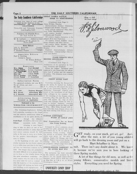The Daily Southern Californian, Vol. 10, No. 38, April 29, 1913