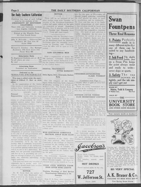 The Daily Southern Californian, Vol. 3, No. 26, October 24, 1913