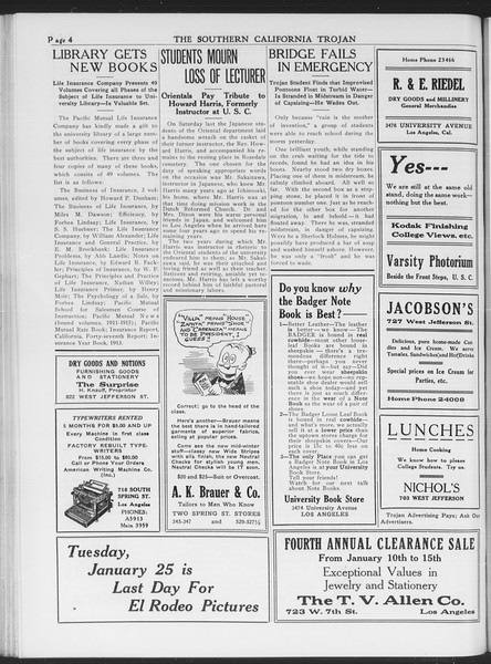 The Southern California Trojan, Vol. 7, No. 61, January 19, 1916
