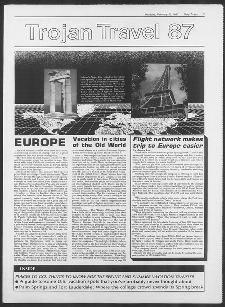 Daily Trojan, Vol. 103, No. 31, February 26, 1987