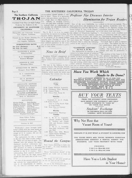 The Southern California Trojan, Vol. 7, No. 14, October 08, 1915