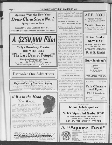 The Daily Southern Californian, Vol. 3, No. 57, January 07, 1914