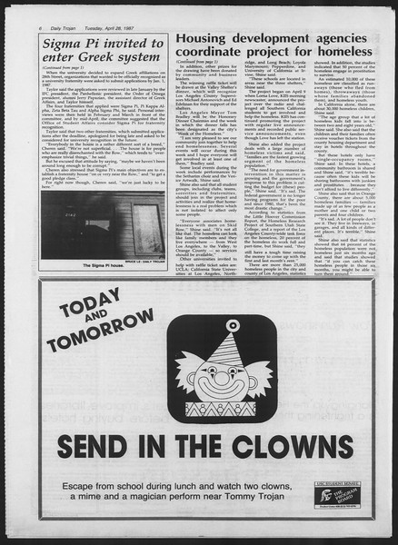 Daily Trojan, Vol. 103, No. 68, April 28, 1987
