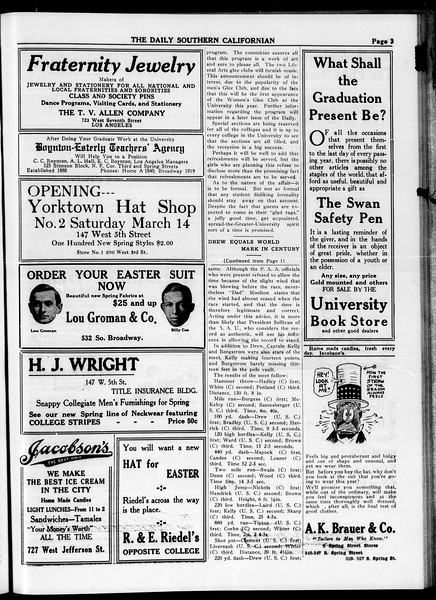 The Daily Southern Californian, Vol. 4, No. 28, April 07, 1914