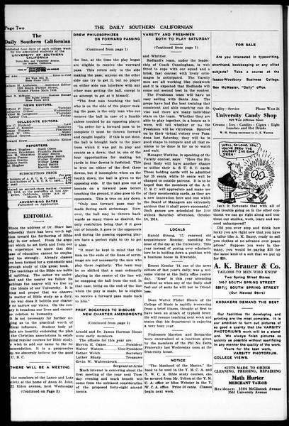 The Daily Southern Californian, Vol. 5, No. 13, October 07, 1914