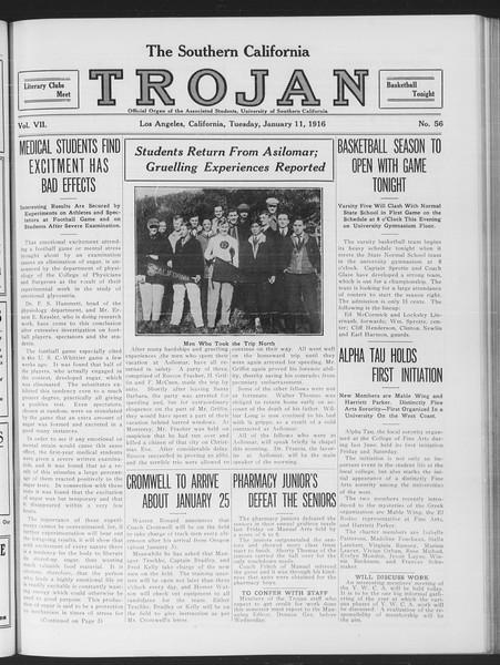 The Southern California Trojan, Vol. 7, No. 56, January 11, 1916