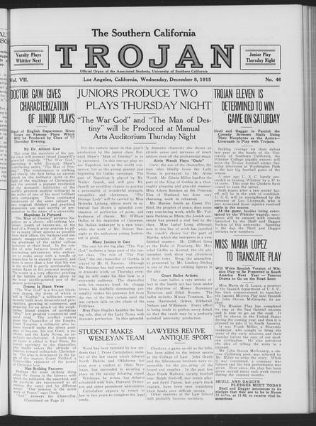The Southern California Trojan, Vol. 7, No. 46, December 08, 1915