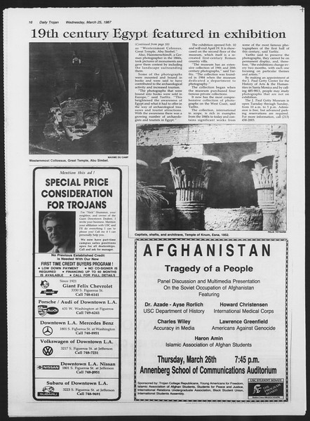 Daily Trojan, Vol. 103, No. 50, March 25, 1987