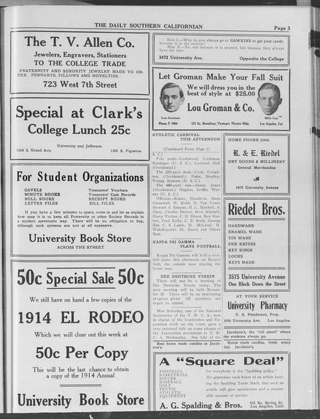 The Daily Southern Californian, Vol. 3, No. 33, November 06, 1913