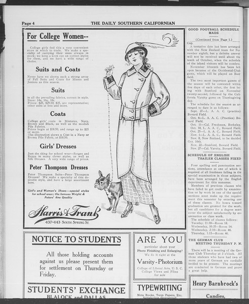 The Daily Southern Californian, Vol. 3, No. 8, September 24, 1913