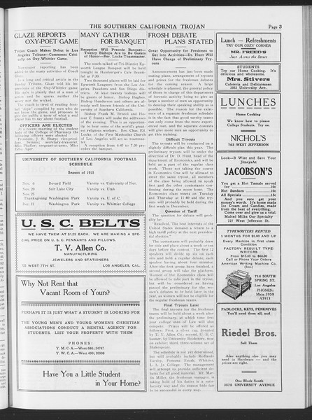 The Southern California Trojan, Vol. 7, No. 27, November 02, 1915