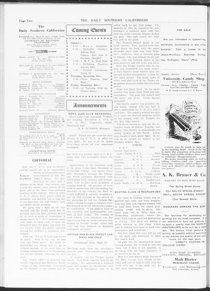 The Daily Southern Californian, Vol. 5, No. 28, November 04, 1914
