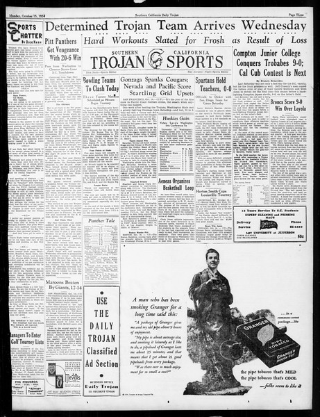 Daily Trojan, Vol. 26, No. 17, October 15, 1934