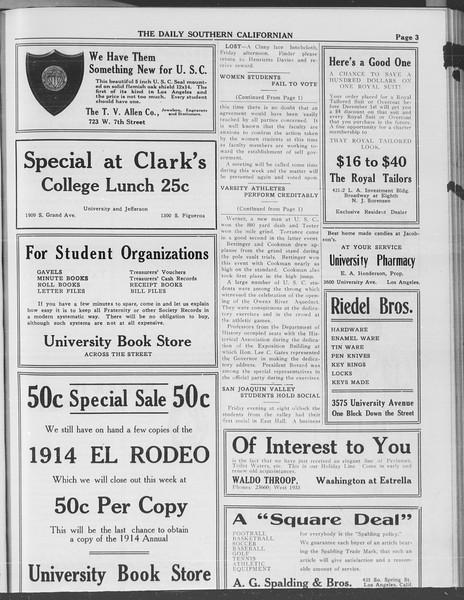 The Daily Southern Californian, Vol. 3, No. 35, November 11, 1913