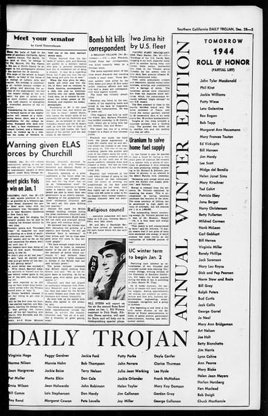 Daily Trojan, Vol. 36, No. 35, December 28, 1944