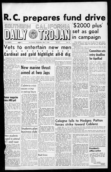 Daily Trojan, Vol. 36, No. 73, March 07, 1945
